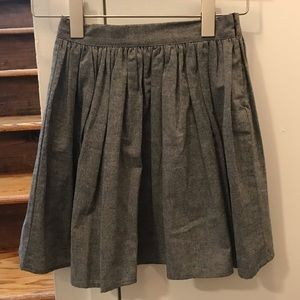American Apparel grey chambray skirt